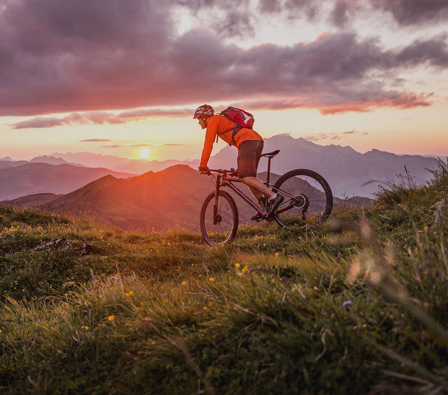 Mountain and Bike